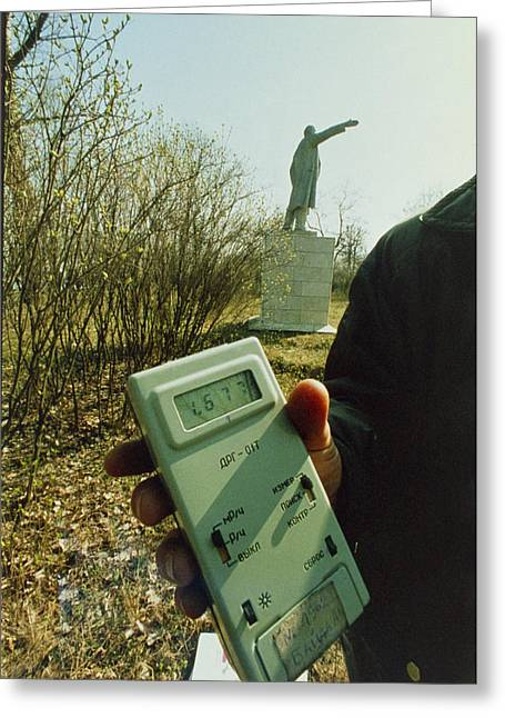 Lenin Greeting Cards - Monitoring Fallout Levels From Chernobyl. Greeting Card by Ria Novosti