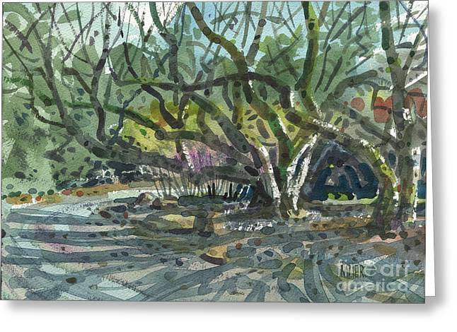 Monk Greeting Cards - Monk Trees Two Greeting Card by Donald Maier