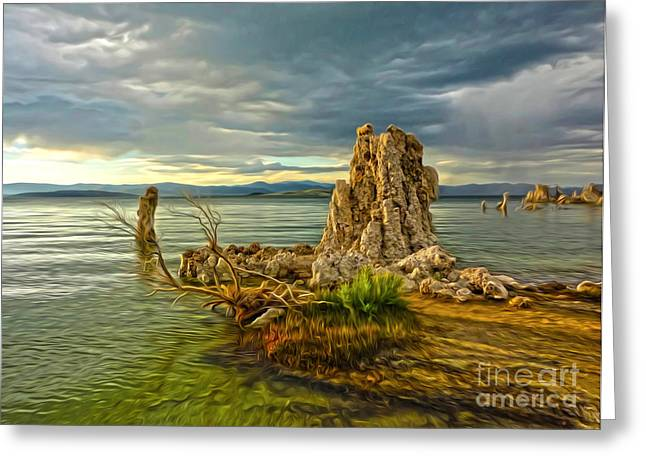 Gregory Dyer Greeting Cards - Mono Lake - 02 Greeting Card by Gregory Dyer