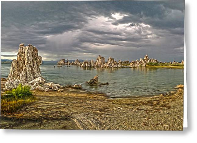 Gregory Dyer Greeting Cards - Mono Lake - 03 Greeting Card by Gregory Dyer