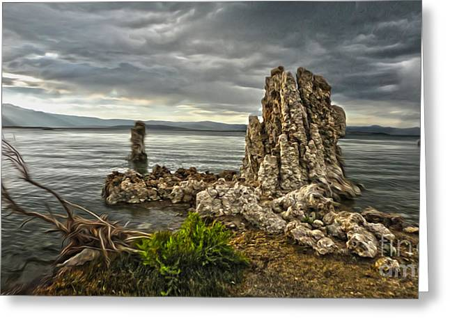 Gregory Dyer Greeting Cards - Mono Lake - 04 Greeting Card by Gregory Dyer