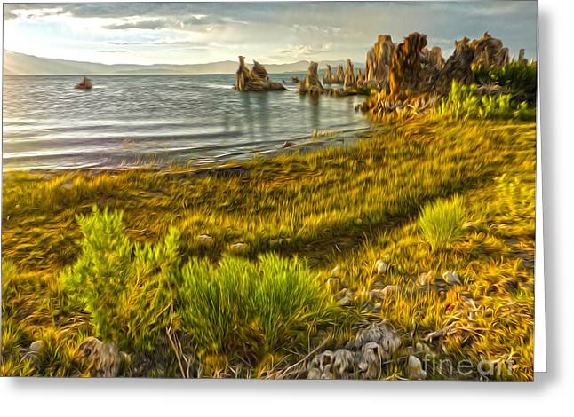 Gregory Dyer Greeting Cards - Mono Lake - 07 Greeting Card by Gregory Dyer