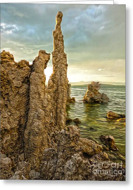 Gregory Dyer Greeting Cards - Mono Lake - 09 Greeting Card by Gregory Dyer