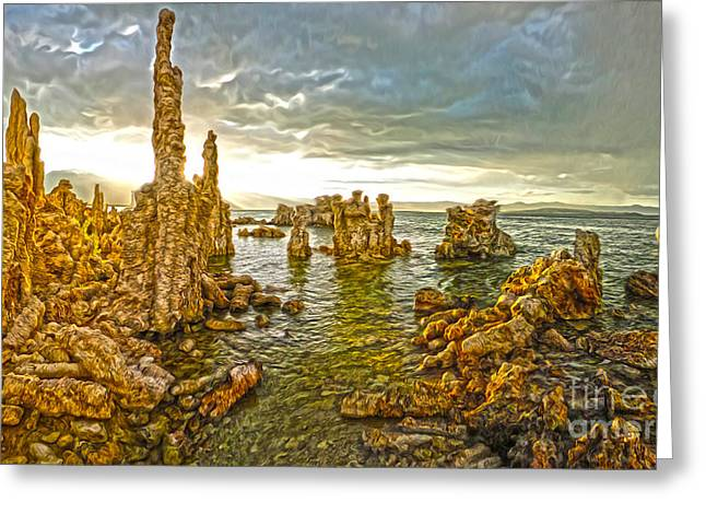 Gregory Dyer Greeting Cards - Mono Lake - 10 Greeting Card by Gregory Dyer