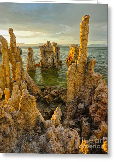 Gregory Dyer Greeting Cards - Mono Lake - 12 Greeting Card by Gregory Dyer