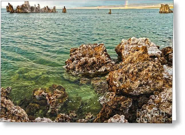 Gregory Dyer Greeting Cards - Mono Lake - 13 Greeting Card by Gregory Dyer