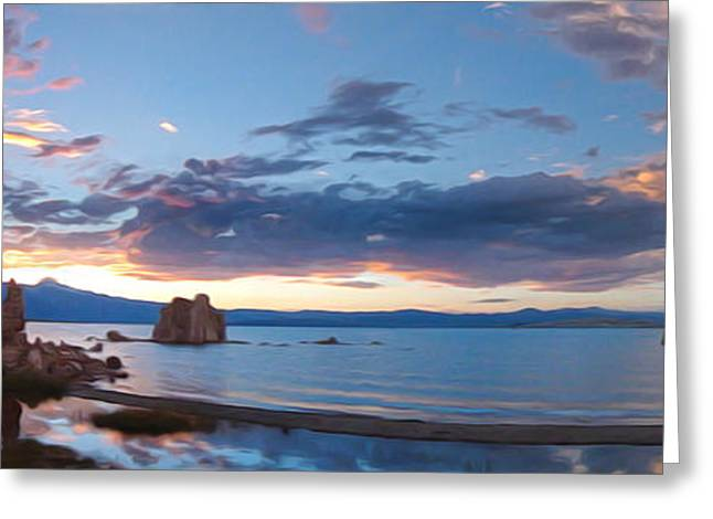 Gregory Dyer Greeting Cards - Mono Lake - 18 Greeting Card by Gregory Dyer