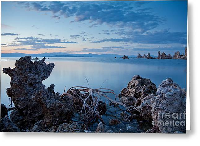 Alkaline Greeting Cards - Mono Lake after sunset Greeting Card by Olivier Steiner