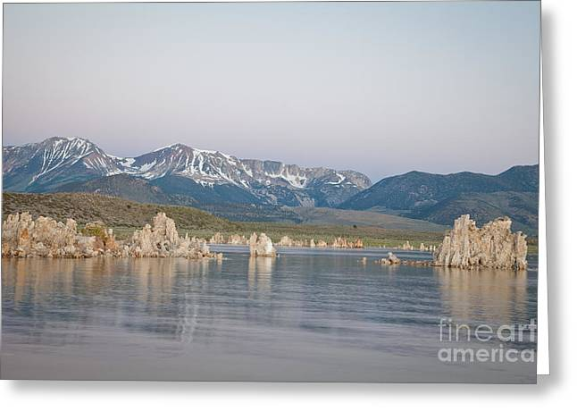 Alkaline Greeting Cards - Mono Lake before sunrise Greeting Card by Olivier Steiner