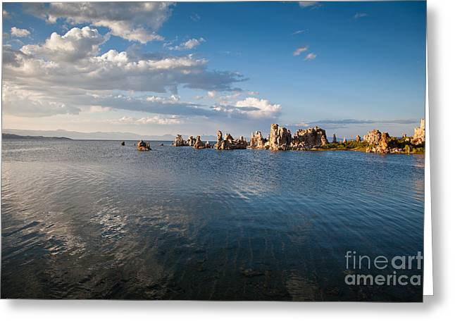 Alkaline Greeting Cards - Mono Lake before sunset 2 Greeting Card by Olivier Steiner