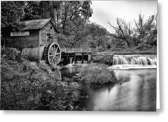 40mm Greeting Cards - Mono Mill Greeting Card by CJ Schmit