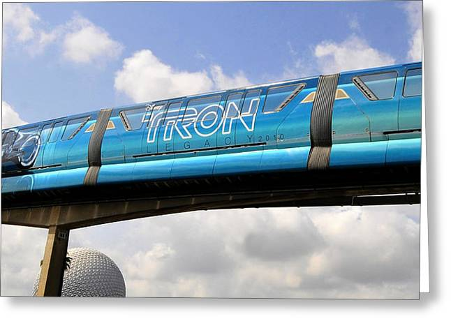 Best Sellers -  - Tron Greeting Cards - Mono Tron Greeting Card by David Lee Thompson