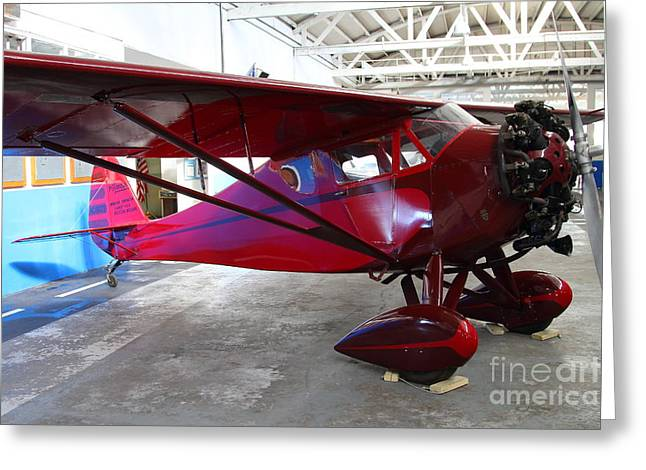 Passenger Airplanes Greeting Cards - Monocoupe 110 . 7D11144 Greeting Card by Wingsdomain Art and Photography