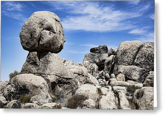 Surreal Landscape Photographs Greeting Cards - Monolithic Stone Greeting Card by Kelley King