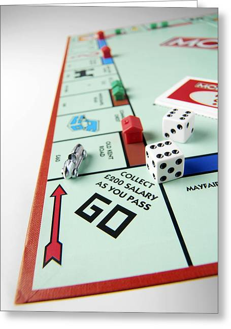 Monopoly Greeting Cards - Monopoly Board Game Greeting Card by Tek Image