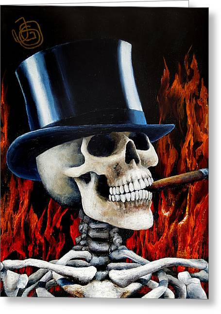 Monopoly Greeting Cards - Monopoly Man Greeting Card by Johanna Uribes