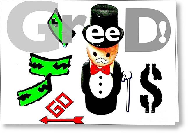 Monopoly Greeting Cards - Monopoly Man Greeting Card by Ricky Sencion