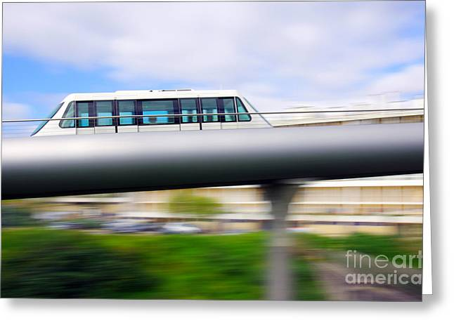 Rapids Greeting Cards - Monorail carriage Greeting Card by Carlos Caetano