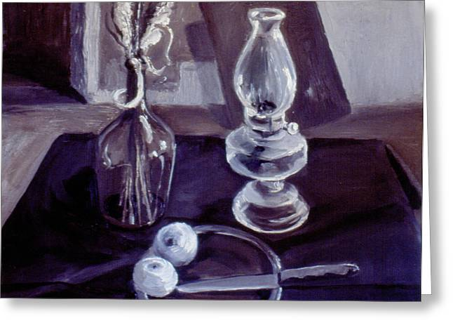 Monotone Still Life 1977 Greeting Card by Nancy Griswold