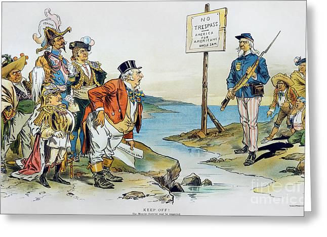 Bayonet Greeting Cards - Monroe Doctrine, 1896 Greeting Card by Granger