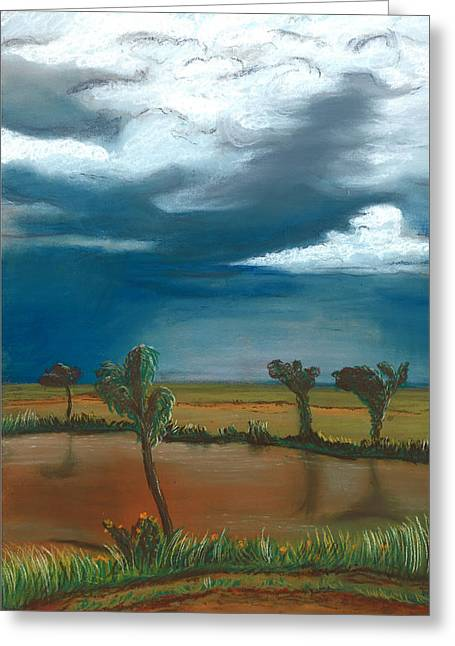Monsoon Greeting Cards - Monsoon in the Distance Greeting Card by Jackie Novak