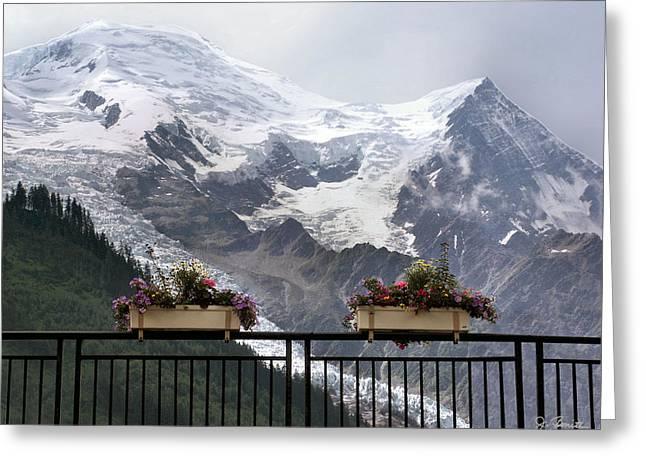 Flower Boxes Greeting Cards - Mont Blanc Greeting Card by Joe Bonita