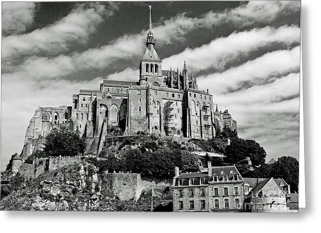 Inheritance Greeting Cards - Mont St. Michel Greeting Card by Jim Chamberlain
