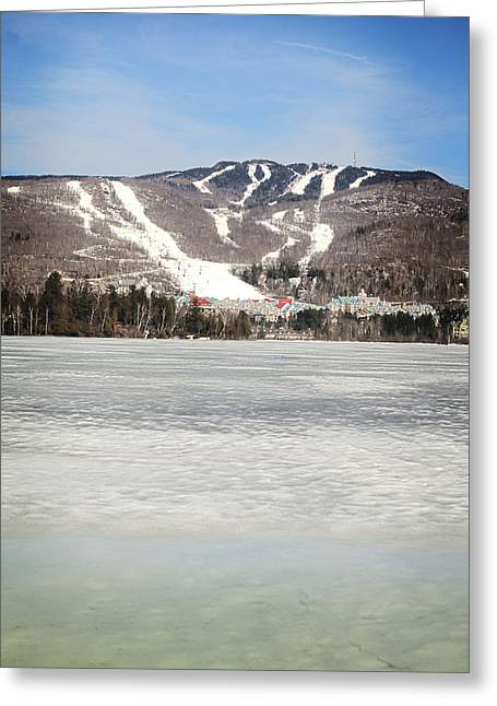Frozen Water Greeting Cards - Mont Tremblant Ski Resort A Resort Greeting Card by Charles Knox