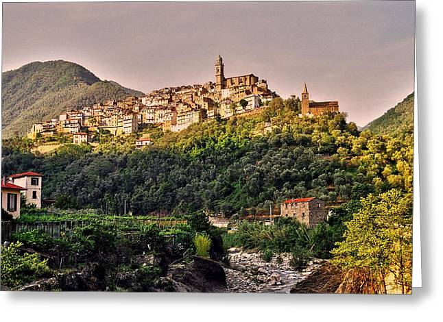 Geschichte Greeting Cards - Montalto Ligure - Italy Greeting Card by Juergen Weiss