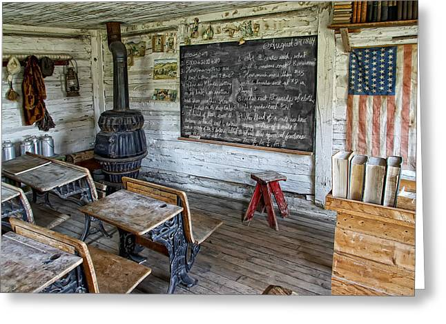Ink Well Greeting Cards - Montana School Lesson August 29 1864 Greeting Card by Daniel Hagerman