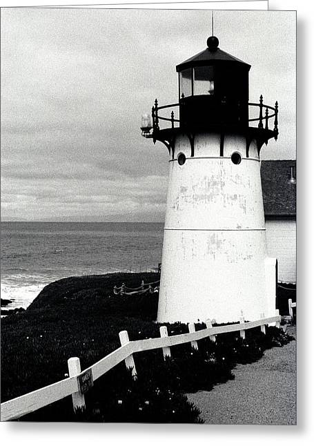 Featured Art Greeting Cards - Montara Lighthouse Greeting Card by Kathy Yates