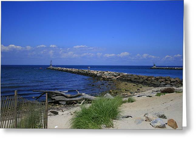Long Island Photographs Greeting Cards - Montauk Jetties Greeting Card by Christopher Kirby