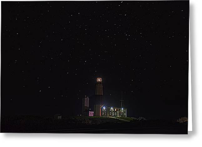 Montauk Starry Night Greeting Card by William Jobes
