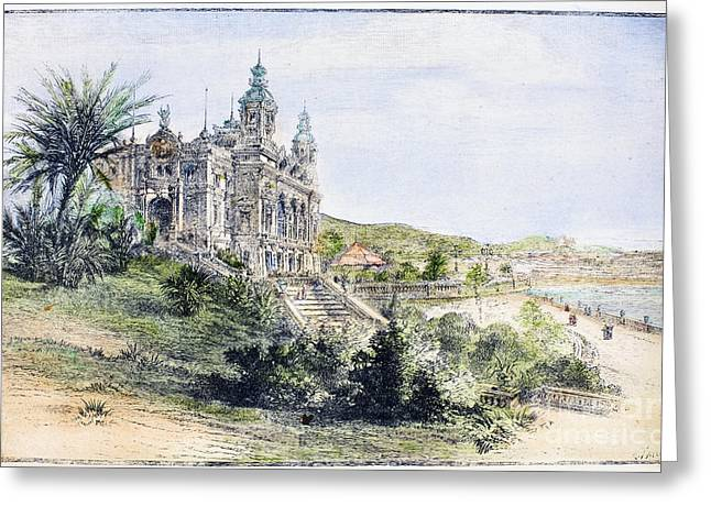 Midi Greeting Cards - Monte Carlo Casino, 1884 Greeting Card by Granger