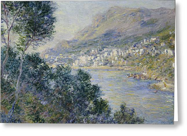 Masterpiece Paintings Greeting Cards - Monte Carlo Greeting Card by Claude Monet