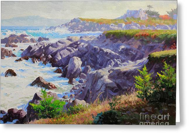 Recently Sold -  - California Beach Art Greeting Cards - Monteray Bay morning 1 Greeting Card by Gary Kim