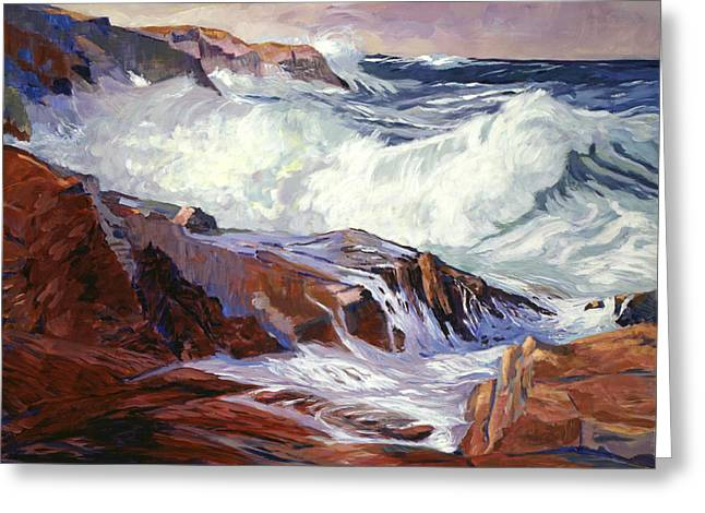 Romantic Realism Greeting Cards - Monterey Coast Greeting Card by David Lloyd Glover