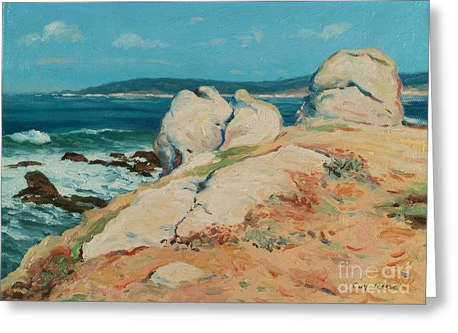 Coastal California Greeting Cards - Monterey Coast Greeting Card by Guy Rose