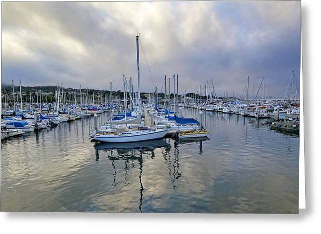 Monterey Harbor Marina - California Greeting Card by Brendan Reals