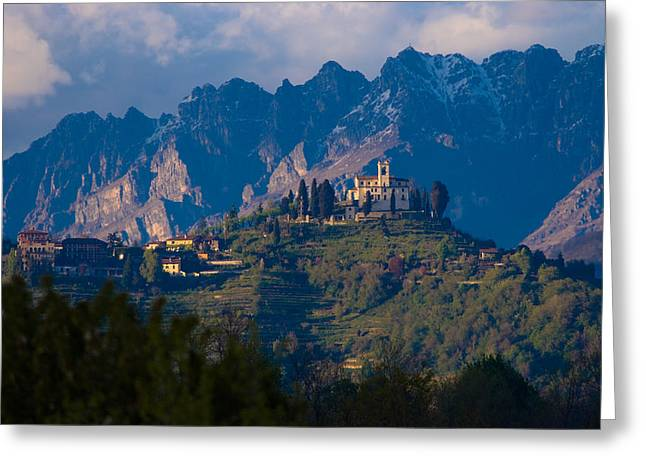 Montevecchia And Resegone Greeting Card by Marco Busoni