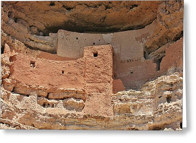 Native American Dwellings Greeting Cards - Montezuma Castle - Special in its own way Greeting Card by Christine Till