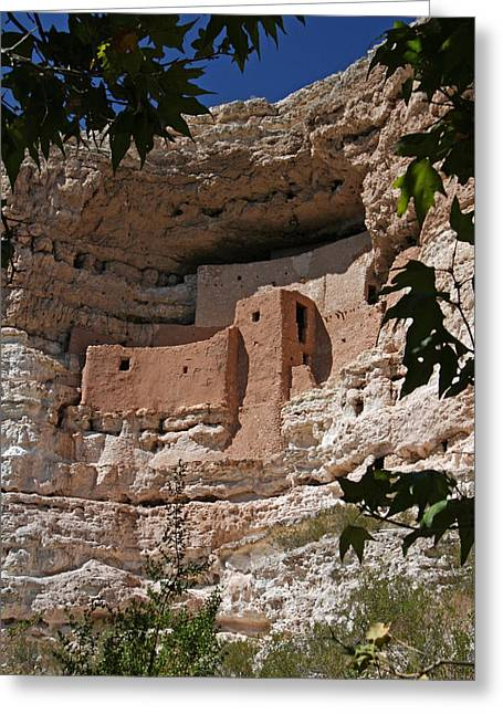 Montezuma Castle Cliff Dwellings In The Verde Valley Of Arizona Greeting Card by Elizabeth Rose
