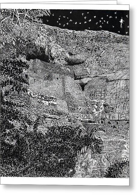Not In Use Greeting Cards - Montezuma Castle  Greeting Card by Jack Pumphrey