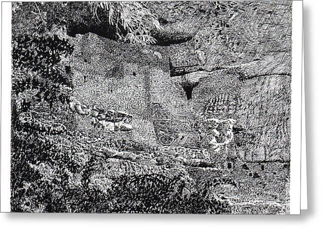 Montezuma Castle  Greeting Card by Jack Pumphrey