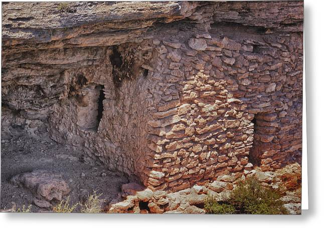 Montezumas Well Greeting Cards - Montezuma Well Dwelling Greeting Card by Tom Singleton