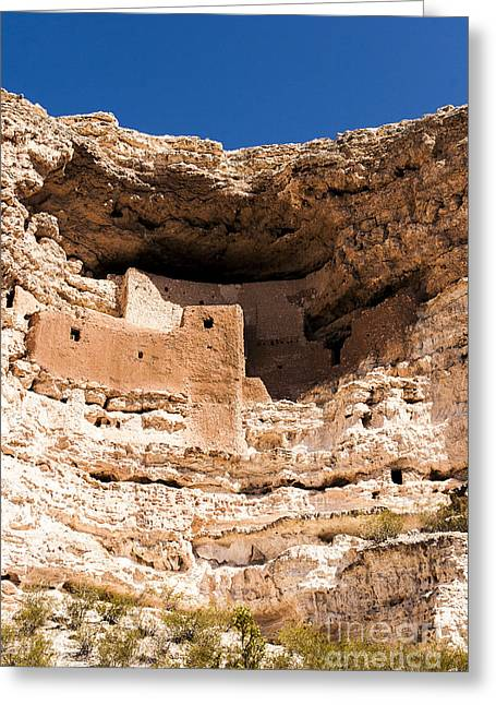 Sinagua Greeting Cards - Montezumas Castle 1 Greeting Card by Darcy Michaelchuk