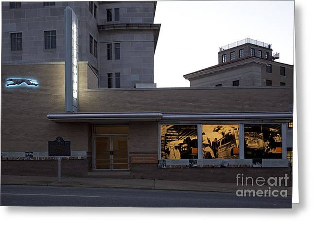 Bus Ride Greeting Cards - Montgomery Bus Station Greeting Card by Granger