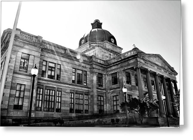 Montgomery Greeting Cards - Montgomery County Court House - Norristown Pa. Greeting Card by Bill Cannon