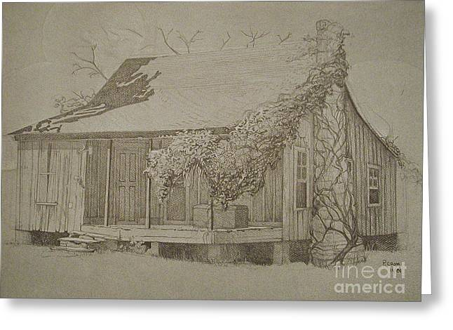 Arkansas Drawings Greeting Cards - Montgomery County Greeting Card by Penny Cash
