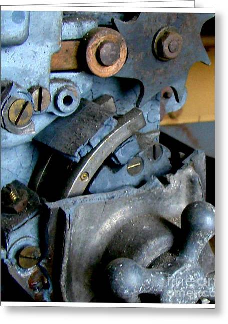 Mechanism Photographs Greeting Cards - Monthly Sprocket  Greeting Card by Tammy Cantrell
